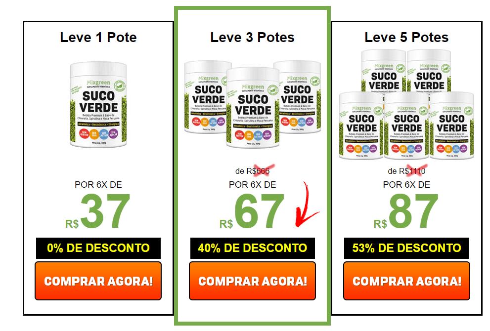 mixgreen preço