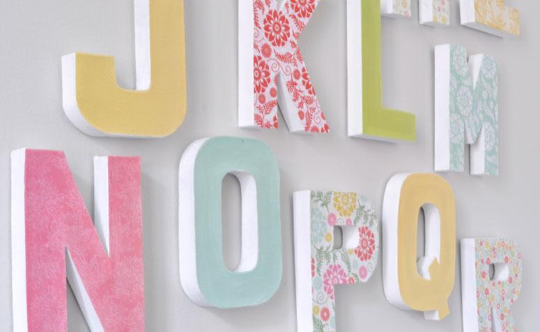 Moldes de letras: decore sua casa quase de graça!