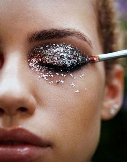 maquiagem com brilhos para carnaval