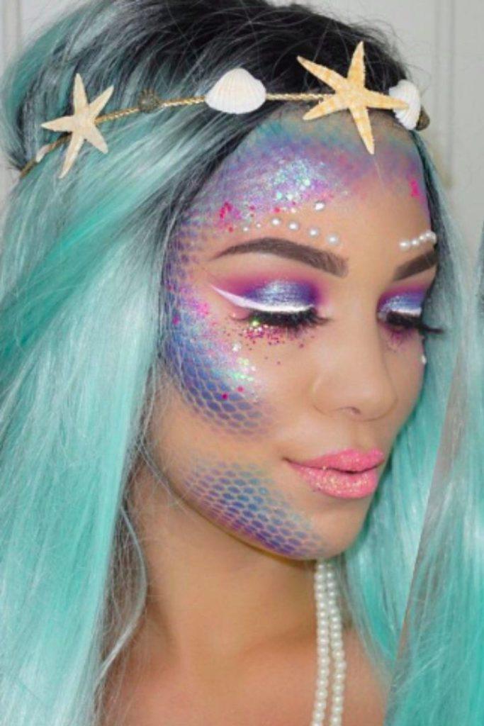 maquiagem de sereia de carnaval