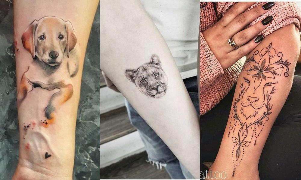 tatuagens de animais no braço