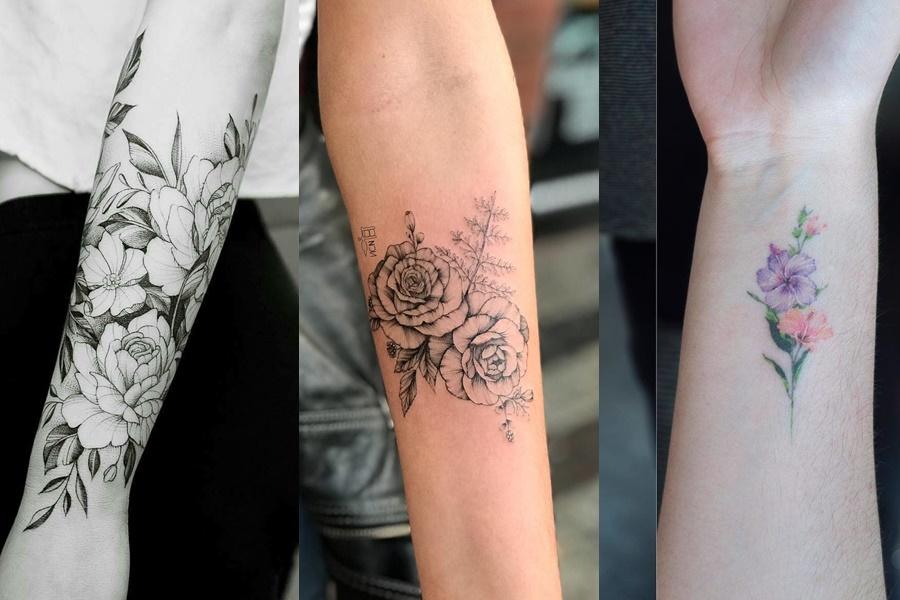 3 exemplos de tatuagens no braço