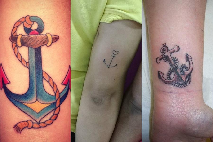 3 modelos de tatuagens com âncora