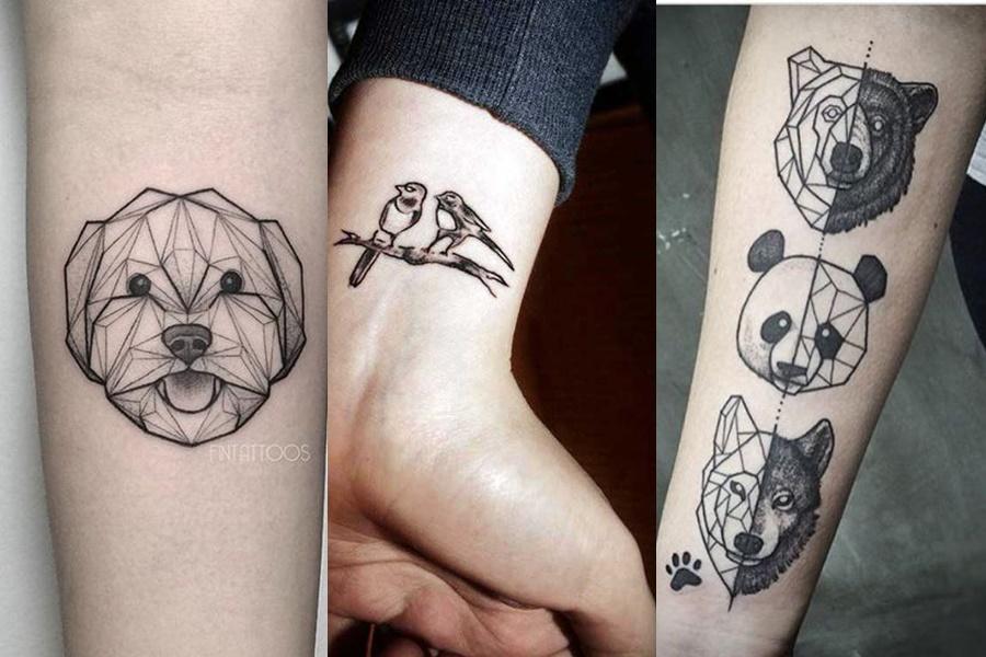 tatuagens femininas no braço de animais