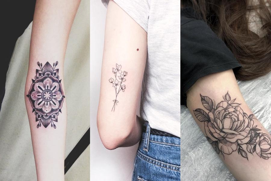 tatuagens femininas no braço de diversos estilos