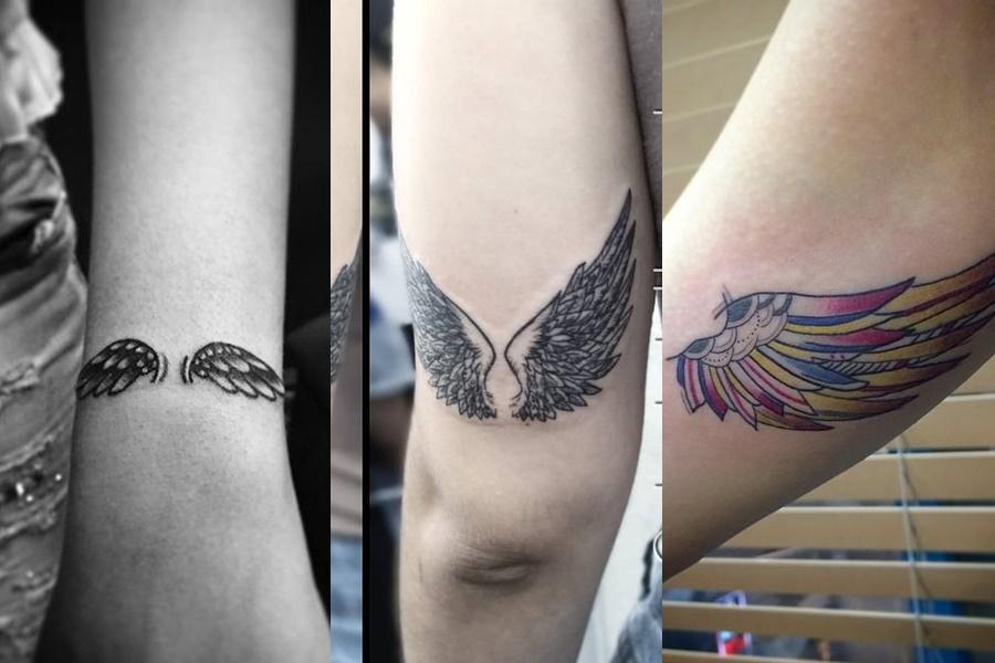 exemplo de tatuagens no braço de asas