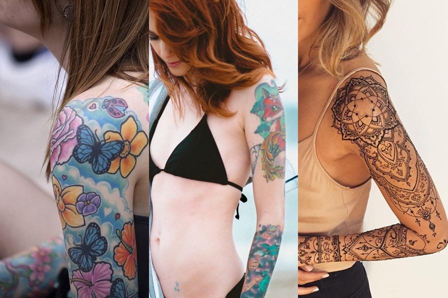 tatuagem no braço colorida e indiana