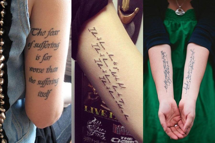 frases maiores para se tatuar no braço ocupando mais espaço
