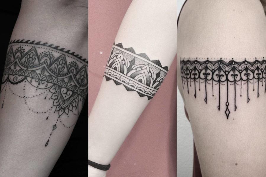 tatuagem no braço modelo tribal