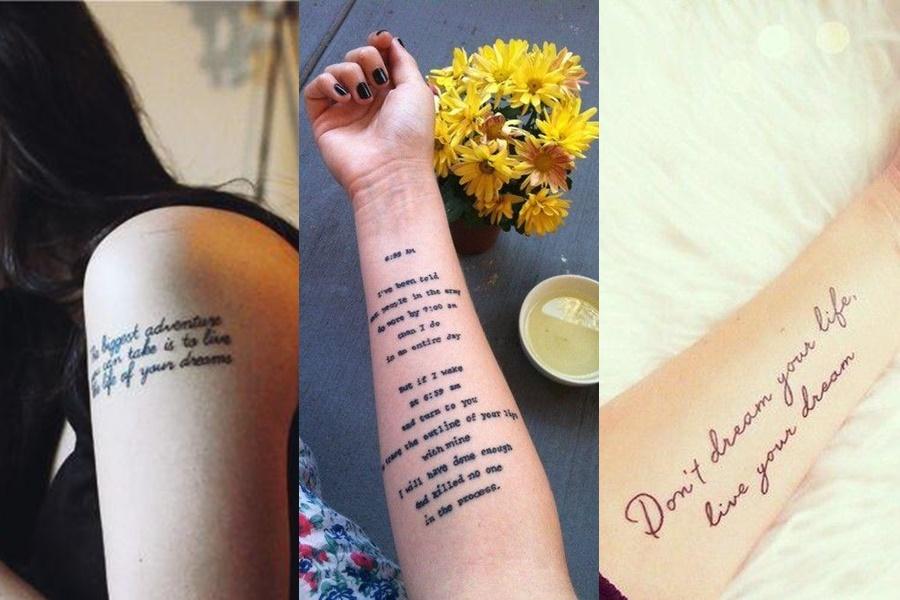 textos, músicas ou poemas para se tatuar no braço