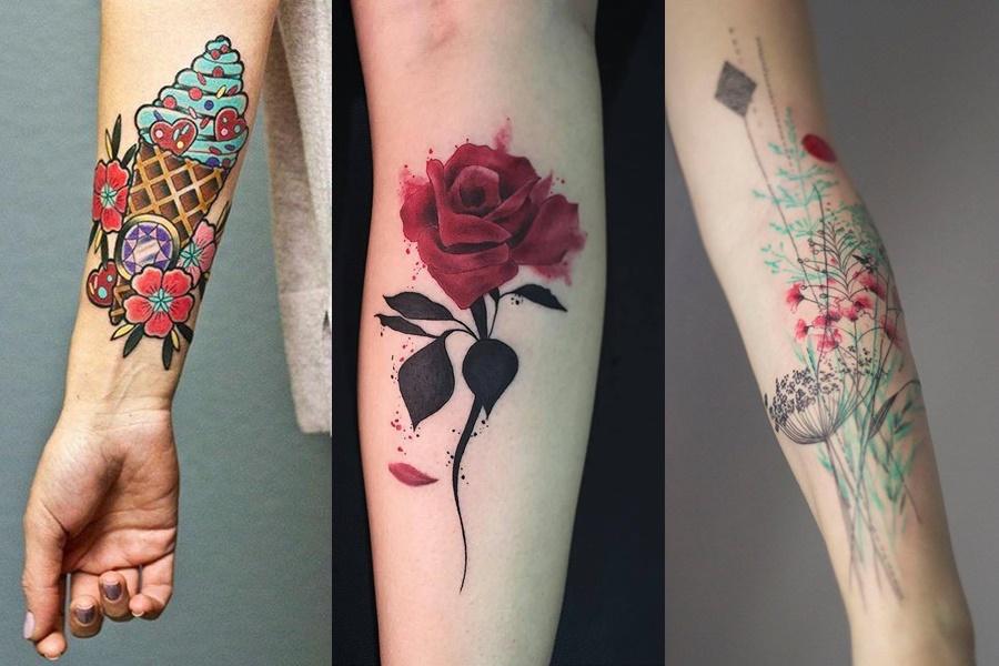 tatuagens coloridas para fazer no braço
