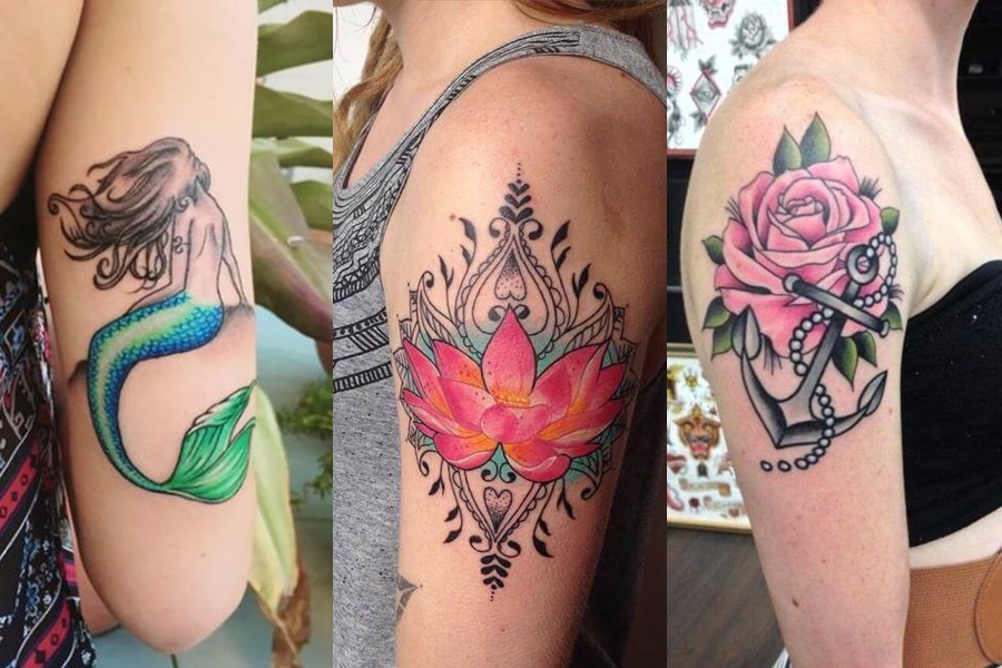 tatuagens femininas coloridas