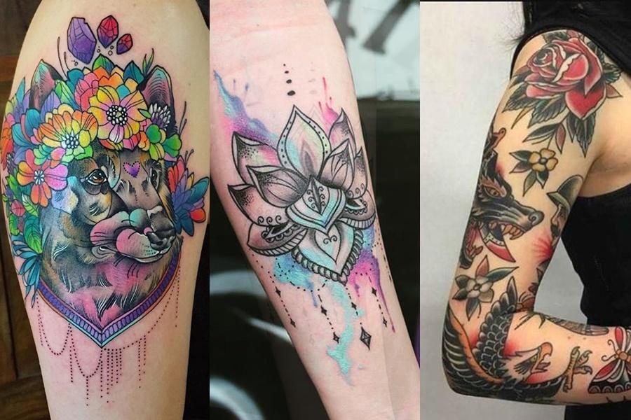 tatuagens grandes coloridas