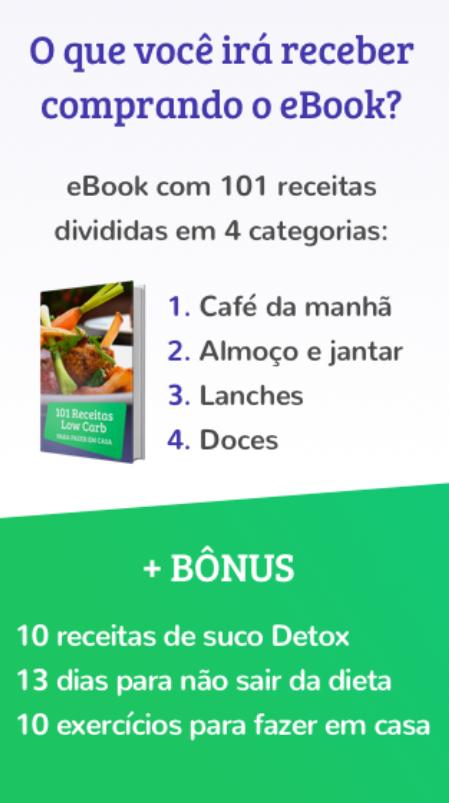 e-book 101 receitas low carb