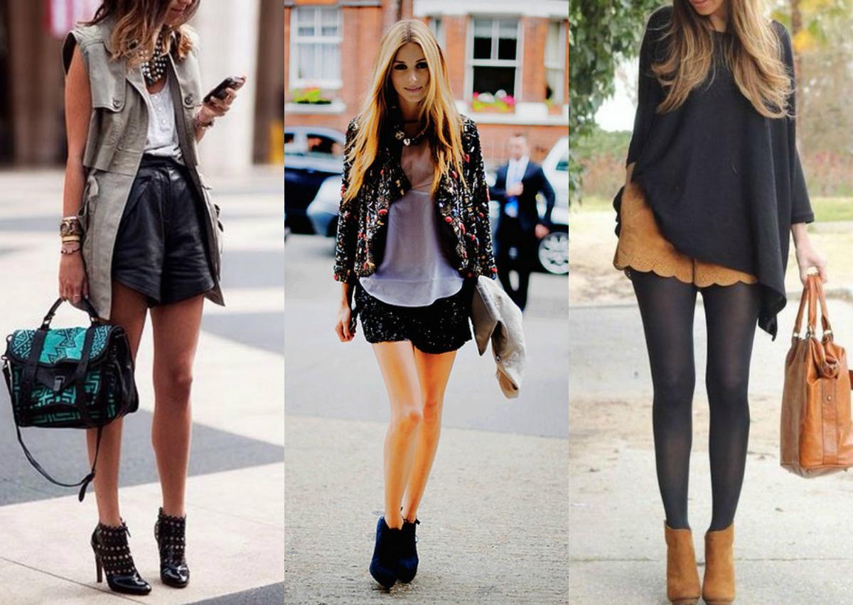 botas de cano curto com shorts