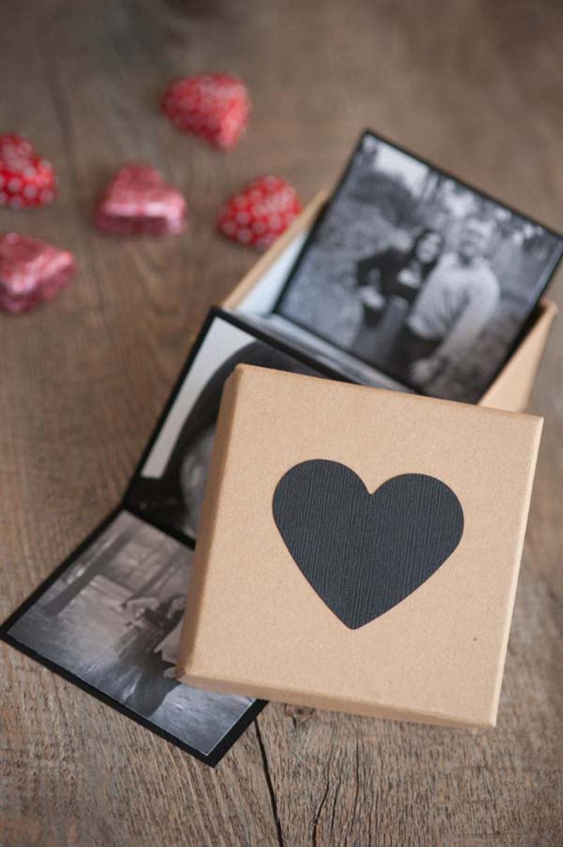 caixa de fotos para fazer surpresa para namorado