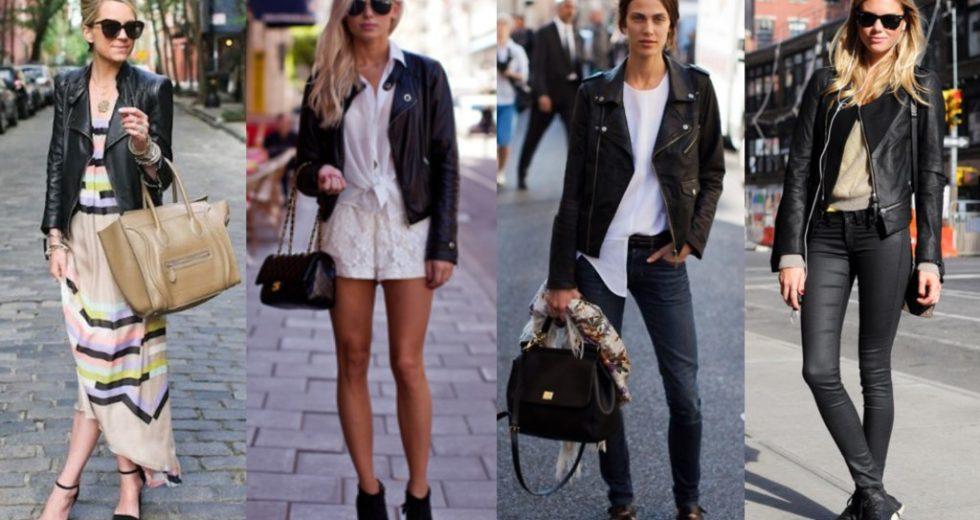 Looks com jaqueta de couro: aprenda como montá-los AGORA MESMO!