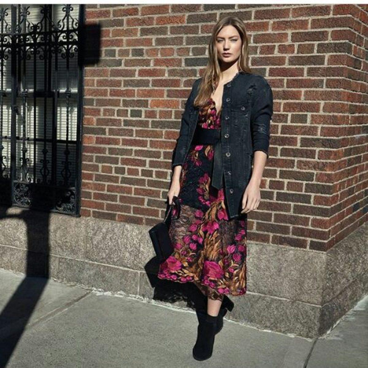 mulher usando vestidos de inverno 2019