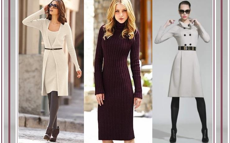 Vestido de frio e outros looks para o inverno