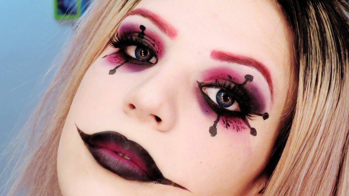 maquiagem halloween arlequina