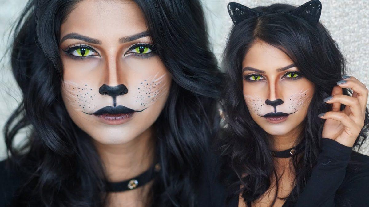 maquiagem halloween gato 1
