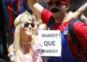 Fantasia de carnaval para casal