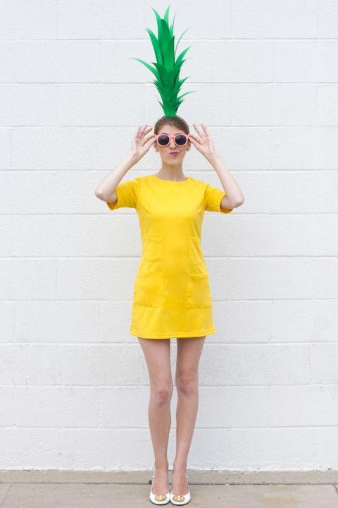 fantasia de carnaval feminina de abacaxi