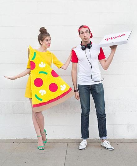 fantasia para casal pizza e entregador de pizza