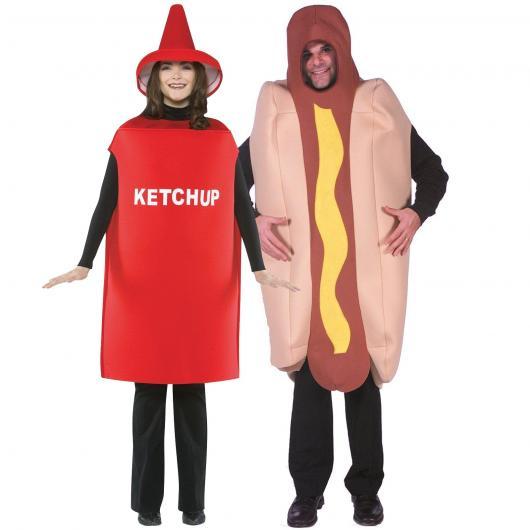 fantasia casal ketchup e mostarda
