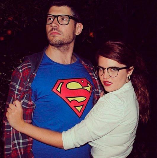 fantasia de casal louis lane e super homem