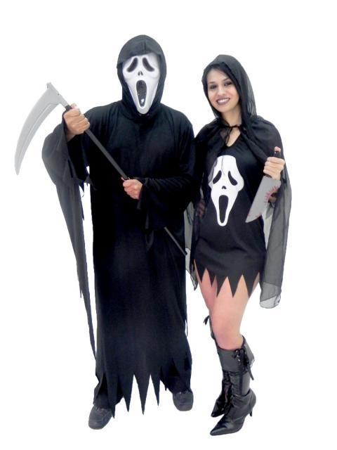 fantasia de carnaval para casal de terror