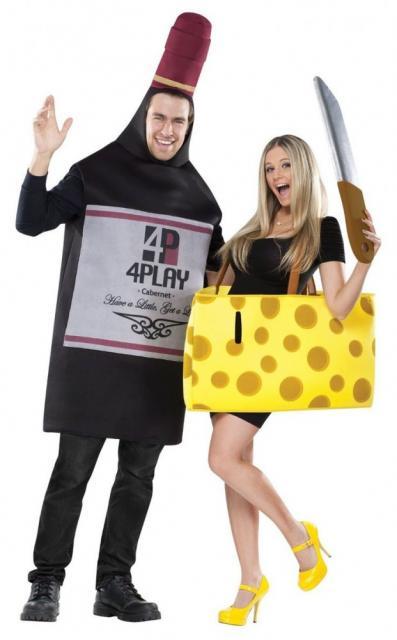 fantasia casal queijo e vinho