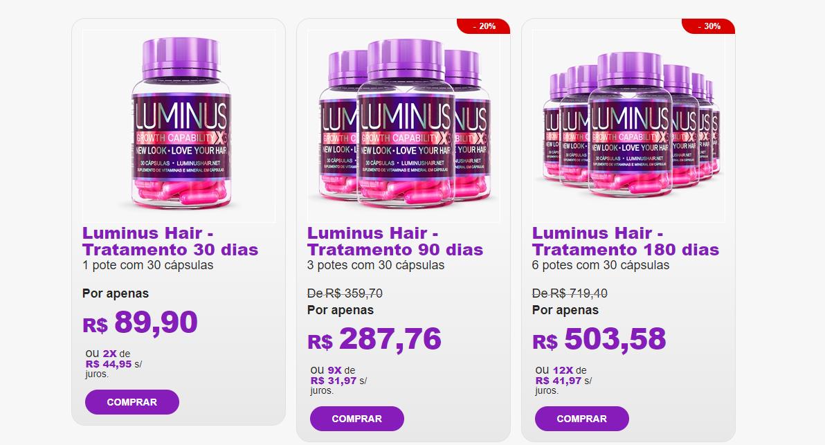 luminushair preços