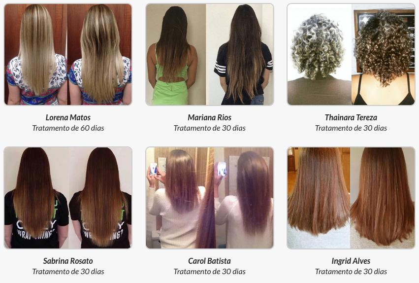 antes e depois do Luminus Hair
