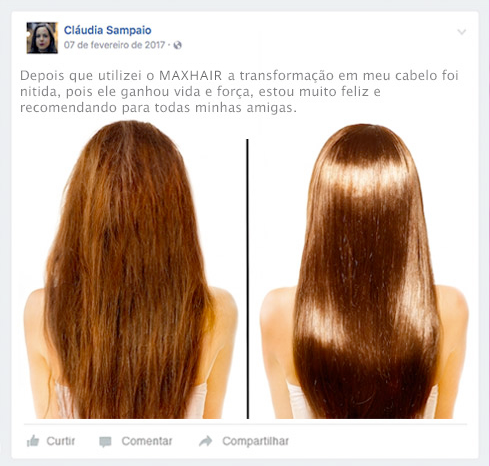 max hair antes e depois