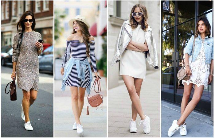 Vestido com tênis: Aprenda aqui como formar diversas combinações perfeitas!