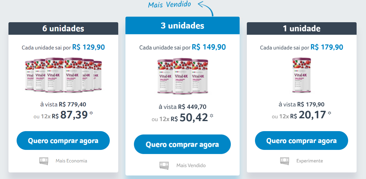 vital 4k preços