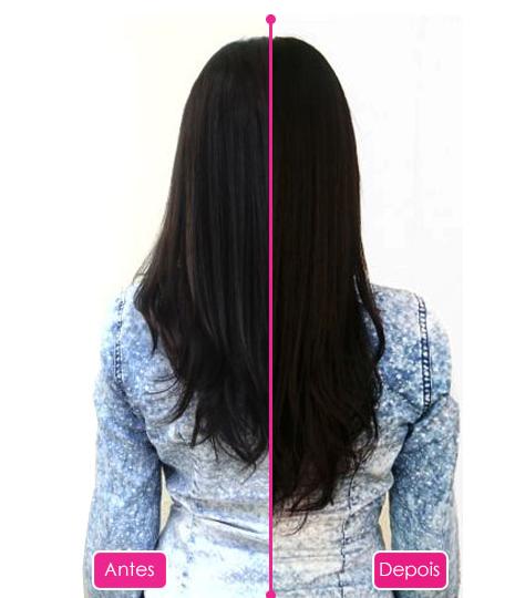 Beauty Nutry antes e depois de usar o produto