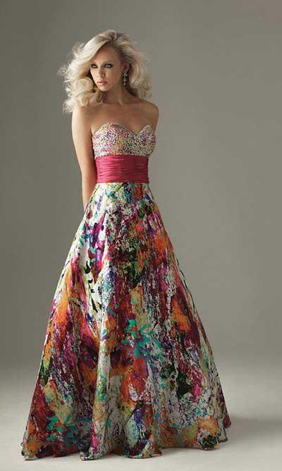46f2ad9de0 modelo de vestido longo estampado para casamento