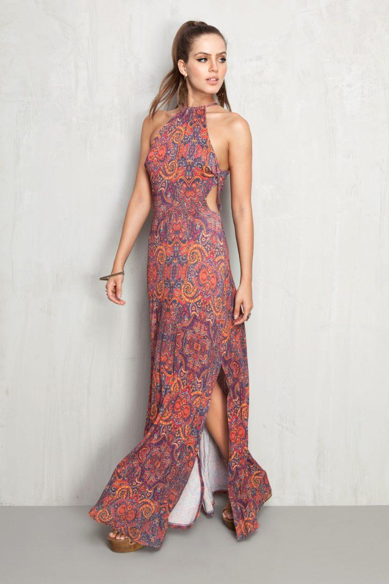 9c4734ea89 modelo de vestido longo estampado para festa