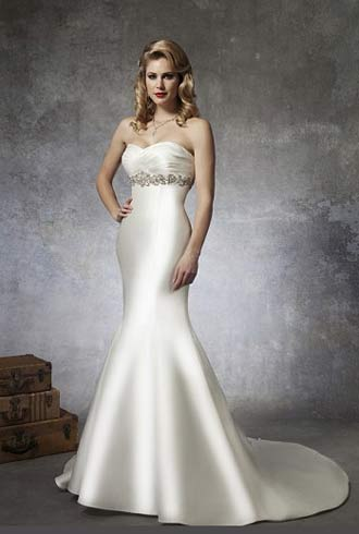modelo de vestido de noiva sereia simples
