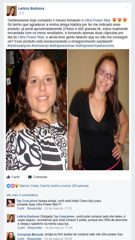 antes e depois ultra power max