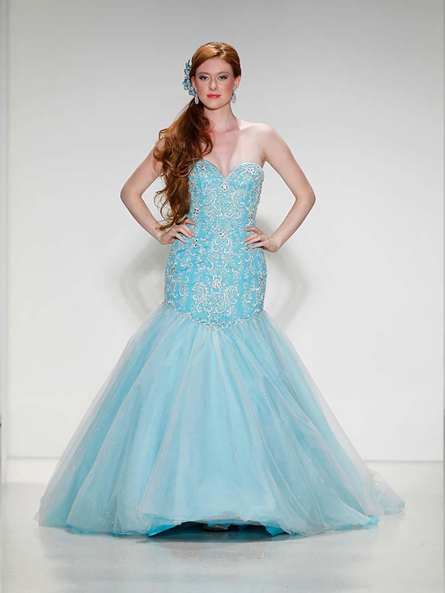 vestido de noiva tomara que caia azul
