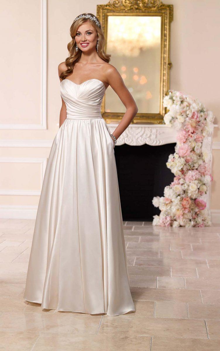 vestido de noiva tomara que caia simples