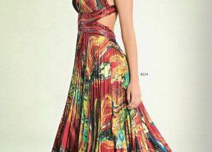 Vestido longo estampado: Para festa, para casamento, com fenda e Plus Size!