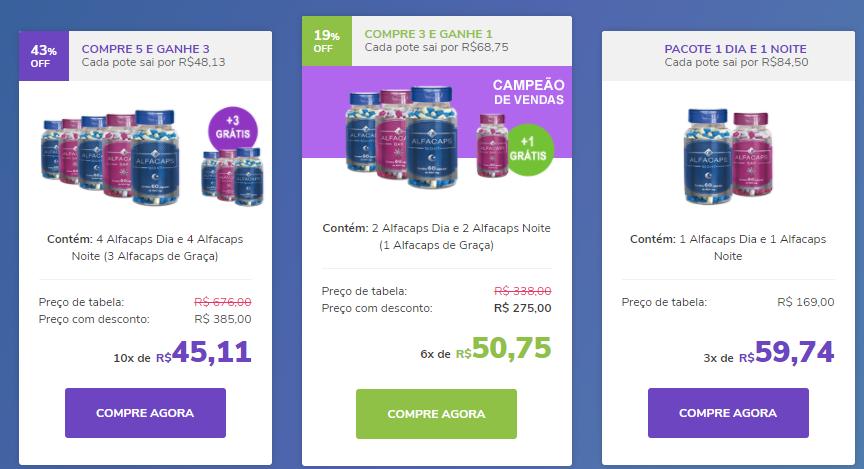 preço suplemento Alfacaps