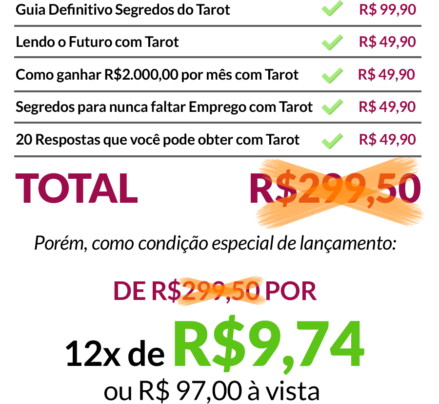 segredos do tarot