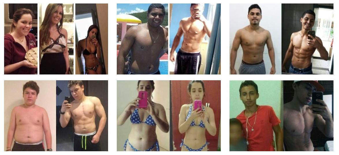 antes e depois de quem fez a dieta flexível
