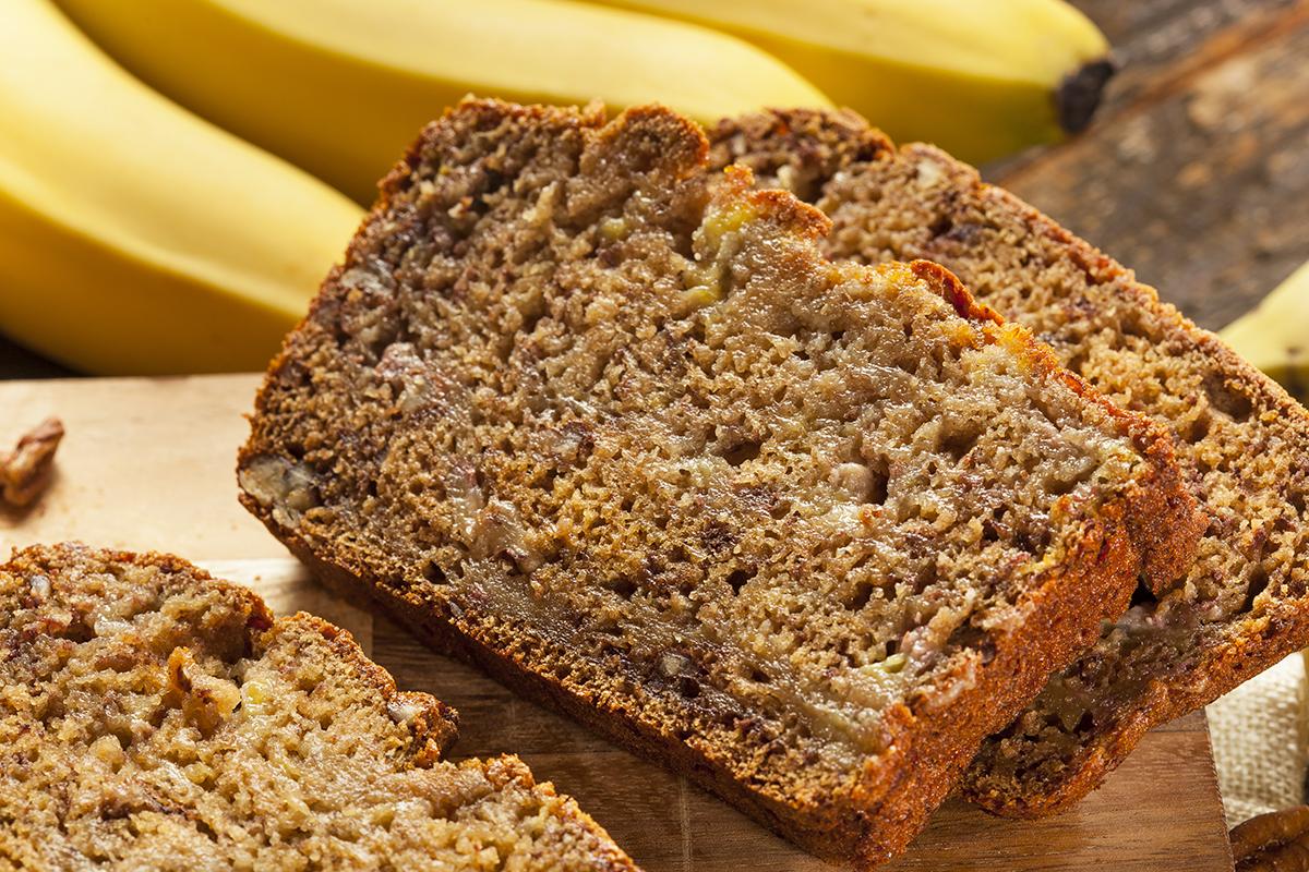 Receitas funcionais bolo de banana