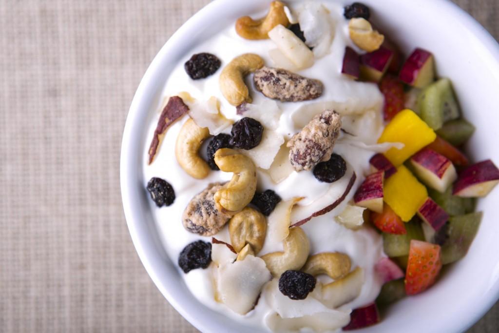 Receitas funcionais frutas com castanhas